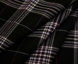 日本製上質ウール/ポリエステル混先染めツイル(綾織り)タータンチェック生地♪W巾150cm防縮加工布布地服地通販激安チェックウール生地チェック柄スカートパンツに