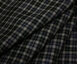 日本製上質ウール/ポリエステル混ツイル(綾織り)先染めマルチカラーのミニチェック♪W巾150cm布生地布地服地通販激安ウール生地チェック柄