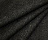 ツイルです。中肉程度の日本製ウール/ポリエステル混先染めチャコール地にピンクのストライプ(縦縞)綾織り生地♪目が詰まって適度なハリとシャリ感あり。防縮加工W巾150cm布布地服地通販激安ウール生地