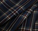 日本製ウール/ポリエステル混平織りサマーウール♪マルチカラーの大きめタータンチェック♪スカート,パンツ,ジャケットに♪W巾150cm布生地布地服地通販チェックウール生地10cm単位チェック柄毛