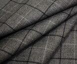 日本製上質ウール/ポリエステル混ツイル/綾織りグラフチェック♪W巾150cm防縮加工布生地布地服地通販ウール生地チェック柄チェック10cm単位毛