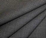 千鳥格子チェックウールポリエステルチェック柄ツイル(綾織り)W巾150cm日本製中肉布生地布地服地通販ウール生地千鳥柄ハウンドトゥース