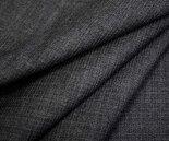 薄手のウールポリエステル混ミニツイル杢チャコールグレー無地。W巾150cm布布地服地通販ウール生地ツイル生地日本製