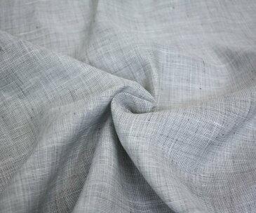 ラミー 麻100% 白・黒シャンブレー調・平織り やや薄手で透け感あり 日本製 シャツ ジャケット 甚平等に 巾102cm 10cm単位 布 生地 布地 服地 麻 通販 無地