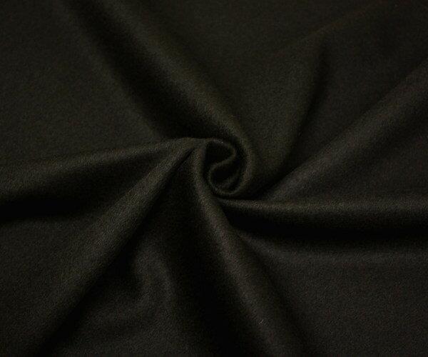 あったかウール100%紡毛メルトン・超ダークブラウン・ビーバー加工 上品な質感と艶有り ピーコート ダッフルコート ポンチョに W巾150cm 防縮加工 日本製 布 生地 布地 服地 通販 ウール メルトンウール ひざ掛け ウール生地 無地