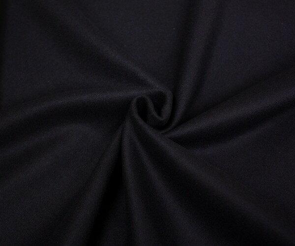 あったかウール100%紡毛メルトン ダークネイビー 無地 ピーコート ダッフルコート ポンチョに W巾150cm 日本製 布 生地 布地 服地 通販 ウール ひざ掛け ウール生地