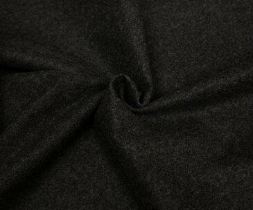 ウール100%紡毛メルトン チャコール 無地 やや薄め ピーコート ポンチョに W巾147cm 日本製 布 生地 布地 服地 通販 ウール ウール生地 メルトンウール 50cm以上10cm単位
