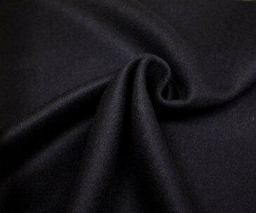 特上品!アンゴラ入紡毛メルトン ビーバー ダークネイビー無地 とってもソフトで上品な光沢 ダッフルコート ポンチョに W巾150cm 日本製 布 生地 布地 服地 通販 ひざ掛け ウール ウール生地 メルトンウール 50cm以上10cm単位