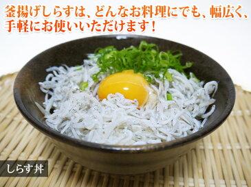 【愛媛宇和海】釜揚げしらす 70g ご飯がすすみます!