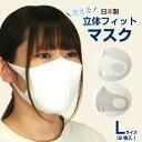 日本製 2枚入り マスク UVカット 白 ホワイト 大人用 男性 女性 立体 吸水速乾 楽 快適 ストレッチ素材 洗える 飛沫防止 エチケット 呼吸が楽 接触冷感 Lサイズ 送料無料 n M10