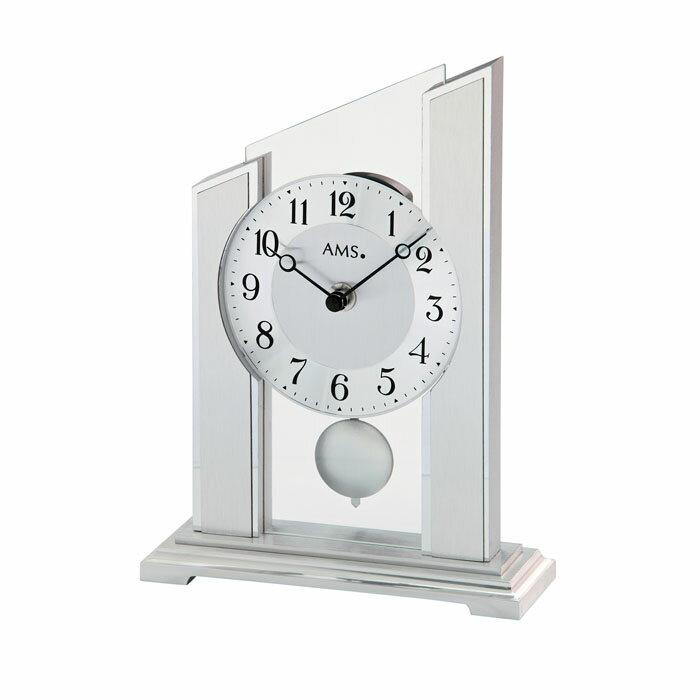 AMS アームス 置き時計 ams-1169 アナログ ドイツ製 置時計 振り子 ガラス [アムス 海外メーカー 輸入時計 欧州 デザイン]:Rocobi