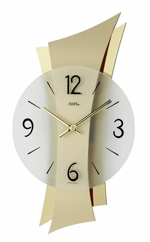 【AMS】【ドイツ製】【アームス】9397 クォーツ式掛け時計 アルミ塗装/ガラス文字盤 アナログ[送料無料]【成人式 お祝い】【父の日】【クリスマス】:Rocobi