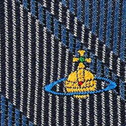 VivienneWestwoodヴィヴィアンウエストウッドネクタイAW2015モデル(先端幅スリム約7cm)24t70_p50color5slimブルーチェック柄ワンポイントロゴ[ビジネスプレゼント就職祝い卒業記念卒業式成人式バレンタイン父の日クリスマスXmas]
