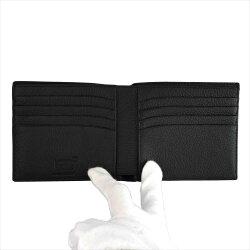 MONTBLANCモンブランU114464MSTソフトグレインウォレット二つ折り財布(小銭入れ無し)8CCブラック黒メンズ男性用レザー[ギフトプレゼントラッピング無料お祝いクリスマス]