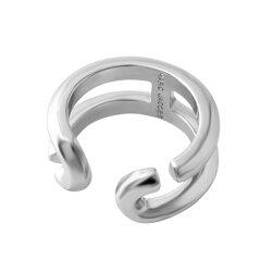 マークジェイコブスMARCJACOBSM0009229-040#7Silver「J」ロゴモチーフアイコンリング指輪日本サイズ14号相当IconBandRing[プレゼントギフトラッピング無料母の日ホワイトデークリスマス]