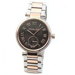 MICHAELKORSマイケルコース腕時計煌びやかなラインストーンをまとったコンビカラーのラグジュアリーなレディス腕時計。見やすい大き目サイズ。MK5957