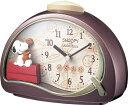 リズム時計工業 目覚し時計 子供 スヌーピーR506 4SE506MJ09 エンジメタリックアナログ キャラクター時計【成人式 お祝い】【クリスマス】