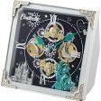 リズム時計工業 Disney ディズニー クオーツ からくり置き時計 シンデレラ 4RH784MC03 メロディー 音楽 仕掛け 白 ホワイト アナログ [ キャラクタークロック 御祝 御祝い お祝い 記念品 新築祝い 熨斗 ]