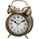 【シチズン/リズム時計工業】【CITIZEN】ツインベルRA06クラシック目覚し8RAA06-063アナログ レトロ調【成人式 お祝い】【父の日】【クリスマス】