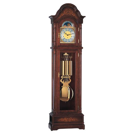 Hermle [ヘルムレ] 高級インテリアクロック Floor Clock ホールクロック 置時計 振子時計クルミ材 茶色 ブラウン木目01168-031161[送料無料]【成人式 お祝い】【父の日】【クリスマス】