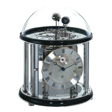 Hermle [ヘルムレ] 高級インテリアクロック Table Clock テーブルクロック 置き時計 天体時計ブラック黒 機械式ガラス 22823-740352[送料無料]【成人式 お祝い】【父の日】【クリスマス】