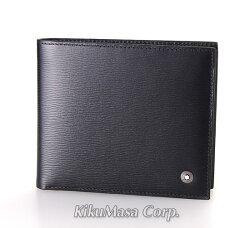 MONTBLANC(モンブラン)二つ折り財布8372ブラック黒ウォレットカーフレザー
