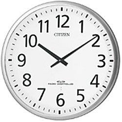 【シチズン/リズム時計工業】【CITIZEN】スリーウェイブM821 4MY821-019 電波壁掛け時計 白 シルバー仕上げ[送料無料]【成人式 お祝い】【父の日】【クリスマス】:Rocobi