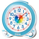 SEIKO セイコークロック クォーツ 知育 めざまし時計 KR887L ライトブルー アナログ 知育時計 [子供 幼児 時計の 勉強 学習 練習 見方 卒園 お祝い クリスマス]