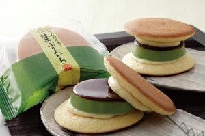ゆふいん創作菓子 黒豆入り抹茶ぷりんどら 4個入