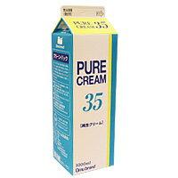 乳脂肪分35%のあっさり味の生クリームです。オーム 生クリーム35% 1L / 製菓材料 パン材料 ...