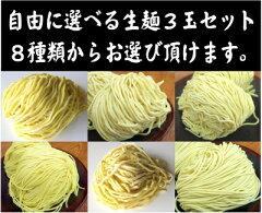 プロも使用の本格生麺!替え玉などにご使用下さい。お好きな生麺が選べる!麺のみ3玉セット(ラ...