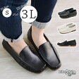 【kilakila*キラキラ】柔らかく履きやすいドライビング風シューズ!スクエアトゥで外反母趾にも優しいぺたんこモカシンなスリッポンのブラック、ホワイトがおしゃれで痛くないフラットシューズのレディース靴