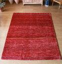 ギャッベ Gabbeh イラン南部カシュカイ族の手織りラグ/Shuli リビングサイズ226x172cm シンプルなレッ...