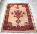ギャッベ センターラグサイズ ルリバフ/Luribaft217x150cm 細かな織りの伝統柄ブラウン クラシカルデザ...