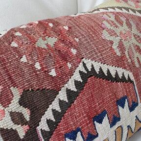 オ-ルドキリムクッション【中綿付】長方形・枕型・ピロ-タイプ・ミニサイズ35x50cmシワス