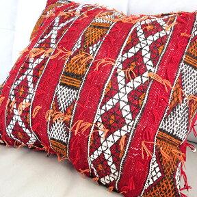 オールドキリムクッション・モロッコZemmourゼモール45×40cm細かく複雑なジジム織り/中綿付き