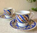 エスプレッソ・デミタスコーヒーカップ&ソーサー珍しい小さめ椀皿トルココーヒー用2……