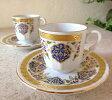 エスプレッソ・デミタスコーヒーカップ&ソーサー珍しい小さめ椀皿トルココーヒー用2客セット:ルーミー /トルコお土産