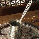 ジェズベCezve・シルバー(銅製)/トルココーヒーを沸かすための小さな鍋【トルコお土……