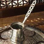 ジェズベCezve・シルバー(銅製)/トルココーヒーを沸かすための小さな鍋【トルコお土産】
