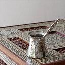 ジェズベCezve・シルバー(銅製)Mサイズ直径7.5cm・高さ7.5cm/トルココーヒーを沸か……