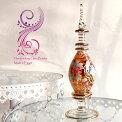 【エジプトお土産】エジプト香水瓶EgyptPurfumeBottles・クレオパトラ20cm・オレンジ