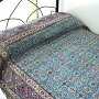 ガラムカールペルシャ更紗240cm長方形アンティークデザイン・手染め布イラン製テーブルクロス・ソファカバー・マルチカバー・アイデアでいろいろ使えるオリエンタルな手染め布