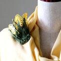 トルコのレース「オヤ」チューリップブローチかぎ針編みのトゥオヤ