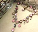 2011夏のボーナス★セール10%OFFMichel's Vintage Beads Neckrace Cuba Line Roseヴィンテージ...
