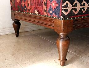 オールドキリムの木製家具・カウチソファW169×H77×D71.5