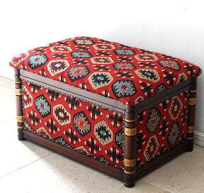 オールドスザンニの木製家具・ボックス・スツールW77.5×H45×D42.5cm【送料無料】