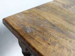 ウッドデスク・アンティークスタイルテーブル/マンゴーウッド(組み立て式)