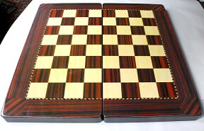バックギャモン/50cm折り畳み式【トルコ製】Tavla(チェス・チェッカー)ゲームボードゲーム盤・白黒駒とサイコロ付