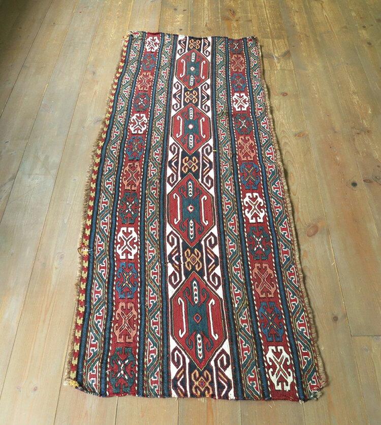 シャーサバンスマックキリム・フラッグメントシャーサバン族の細かな織り/草木染め